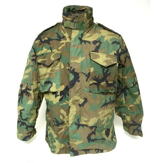 M65 Field Jacket Woodland ERDL Leaf Pattern Camo  4719eb031
