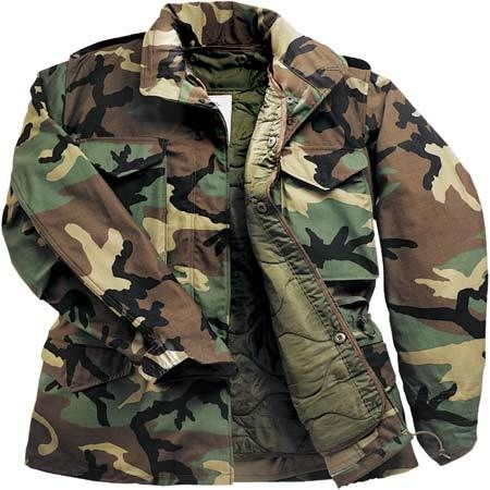 Military Style Woodland M65 Field Jacket With Liner  f33cb5050ea