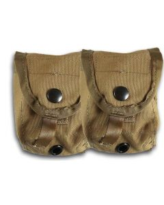 2 Pack Of Coyote GI Hand Grenade Pouches