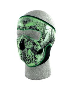 Glow in the Dark Skull Neoprene Thermal Face Mask