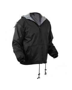 Reversible Fleece-Lined Nylon Jacket with Hood