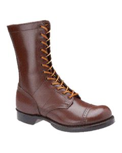 """Corcoran Mens 10"""" Historic Leather Military Brown Jump Boot"""