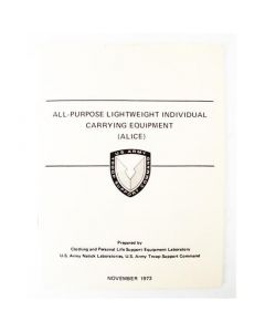 All Purpose Lightweight Individual Carrying Equipment (ALICE) Field Manual