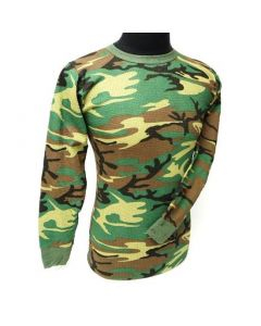 Camouflage Long Sleeve Thermal Top