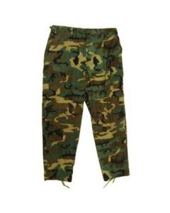 B.D.U. Pants Woodland ERDL Leaf Pattern Camo (100% Cotton Ripstop)