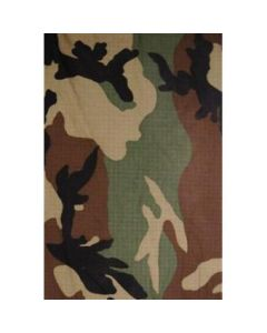 Woodland Camouflage Pattern Rip Stop Material