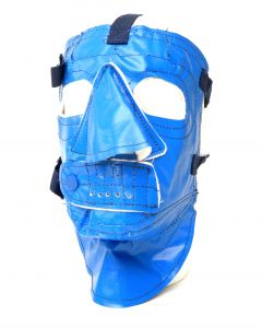 Blue Military Style Vinyl Face Mask