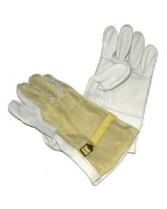 D3A Leather Gloves with Reinforced Palm for Rappelling