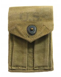 GI WWII Used M1923 .45 Double Web Ammo Pouch