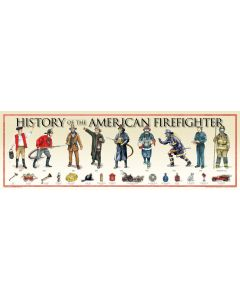 History of the American Firefighter Poster Print