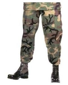Military Spec BDU Pants Woodland 100% Cotton Ripstop
