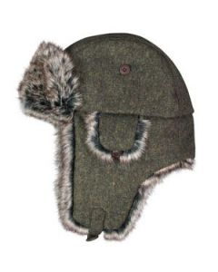Olive Wool Blend Trooper Hat
