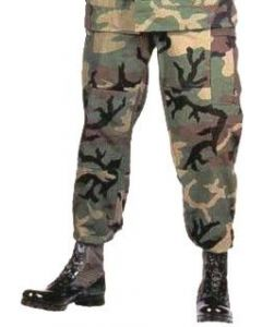 Military Spec BDU Pants Woodland Camo Poly/Cotton