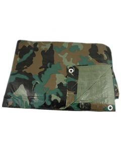 Camouflage Reinforced Rip-Stop Polyethylene Tarps