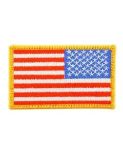 Velcro USA Flag Patch with Gold Border Right Arm