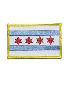Velcro Chicago Flag Patch