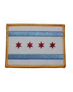 Iron On Chicago Flag Patch