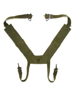 M-1956 Canvas Field Pack Suspenders (New in Government Package)
