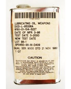 Weapons Lubricating Oil 1 Qt. Can