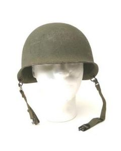 WWII U.S. Front Seam M1 Steel Pot / Helmet (Used)