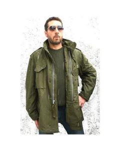 100% Cotton Silver Zipper M65 OD Field Jacket