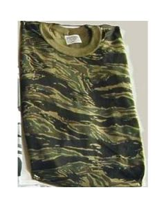 Short Sleeve Tiger Stripe Camouflage