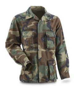 2 Pack of GI Woodland BDU Shirts Used