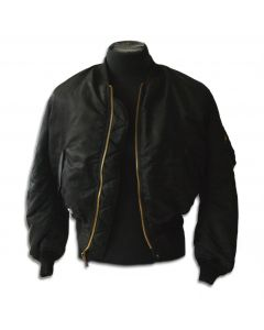 Black MA-1 Pilot's Jacket Made by Winfield