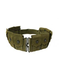 GI WW2 British Made US M1923 Cartridge Belt OD Green