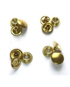 4 Pack Of Gold Snap Buttons