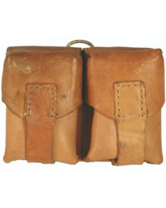 Used Serbian Leather Double Mauser Cartridge Pouch