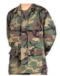 Military Spec BDU Jacket Woodland Poly Cotton Blend