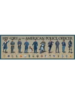 History of the American Police Officer Poster Print