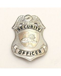 Security Officer Pin Badge Silver 3in.