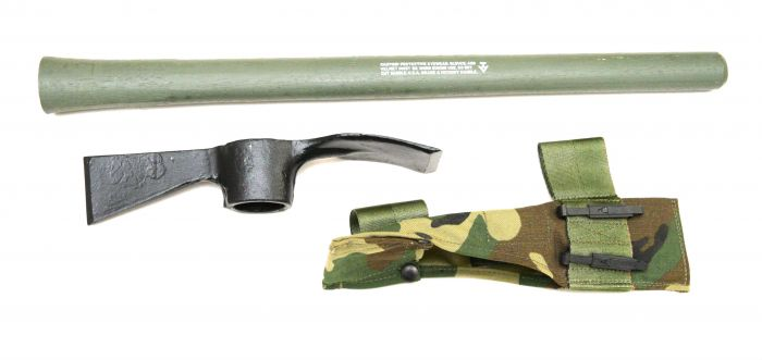 US MILITARY Mattock Axe Carrier Handle Woodland Camo ARMY PICK