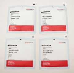 4 Pack of MooreBrand Gauze Pads 4 inch x 4 inch