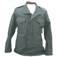 Military Style Black M65 Field Jacket with Liner