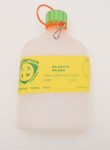 Plastic Flask For All Drinkable Liquids 1-1/2 Pints