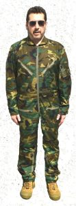 Woodland Camouflage Pilots Ripstop Jumpsuit