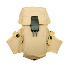 US Made Tan M16 AR15 Ammo Pouch With Grenade Wings