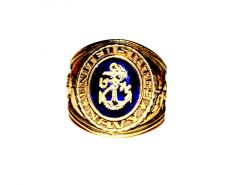 United States Navy Branch of Service 18k Gold Ring