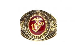 United States Marines Branch of Service 18k Gold Ring