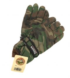 Woodland Camouflage Waterproof Thinsulate Gloves